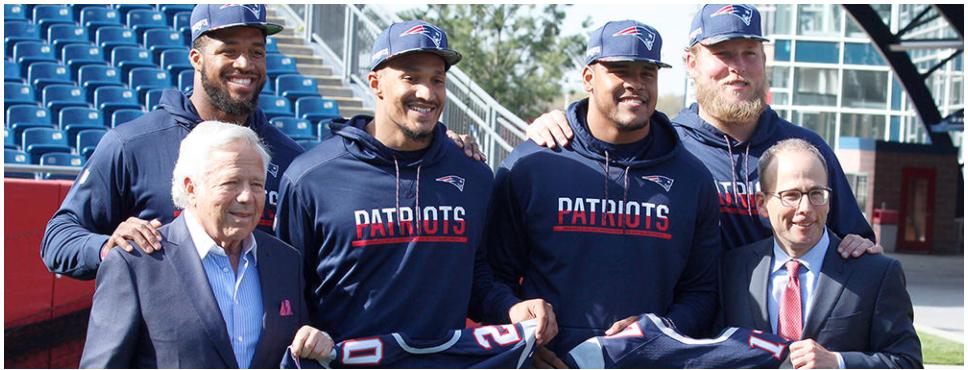Rookies dos Patriots são apresentados no Gillette Stadium