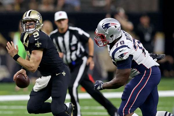 Adam Butler New England Patriots Defesa Drew Brees