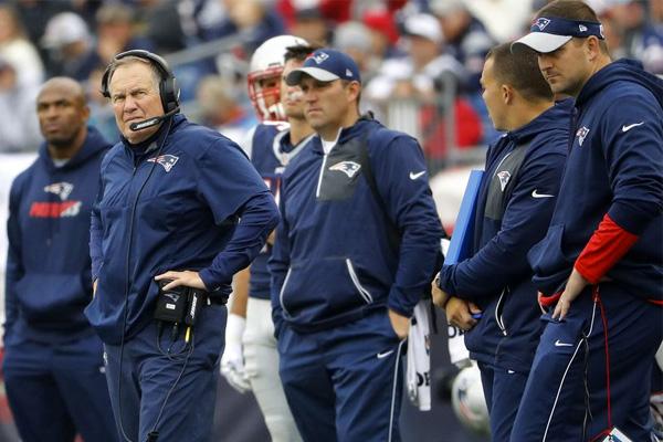 Treinadores Head coach Coordenador Ofensivo Coordenador Defensivo New England Patriots