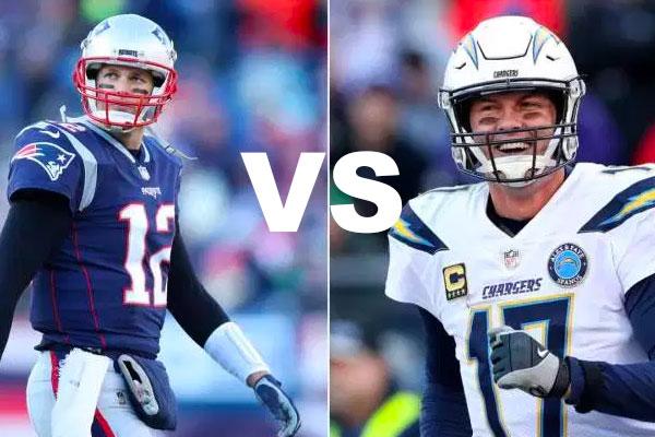 Brady vs Rivers Patriots Chargers