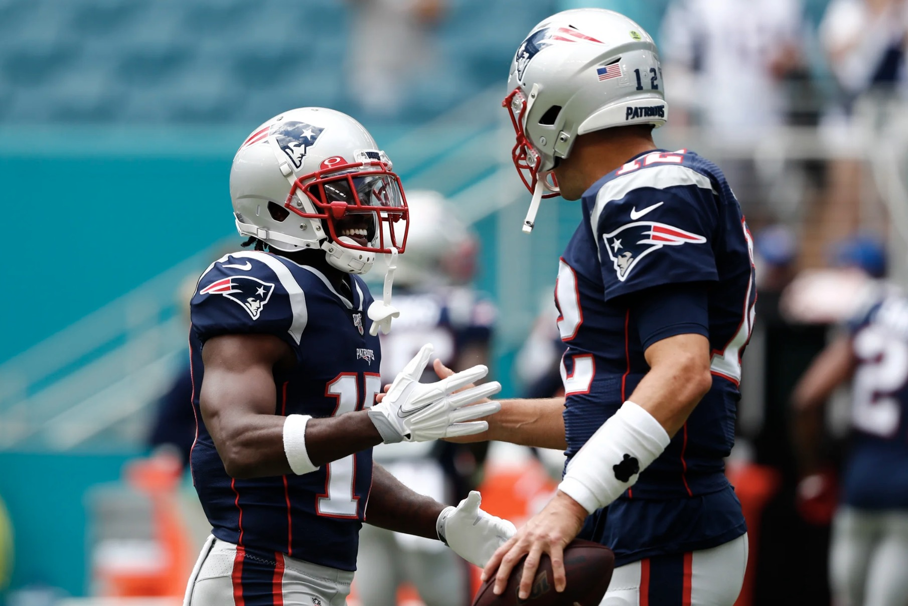 New England Patriots Antonio Brown Tom Brady