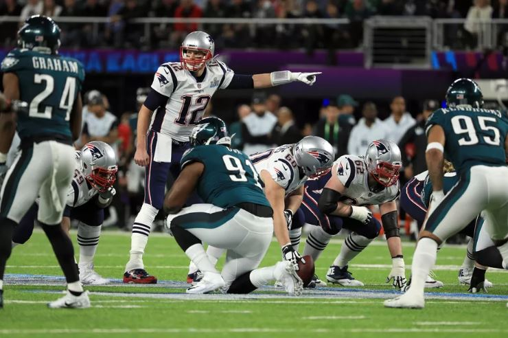 Pats vs Eagles no Super Bowl LII. Créditos: Mike Ehrmann/Getty Images