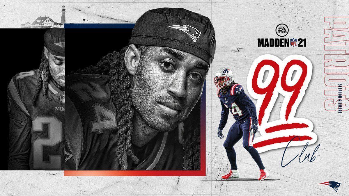 Overall dos jogadores dos Patriots no Madden 21