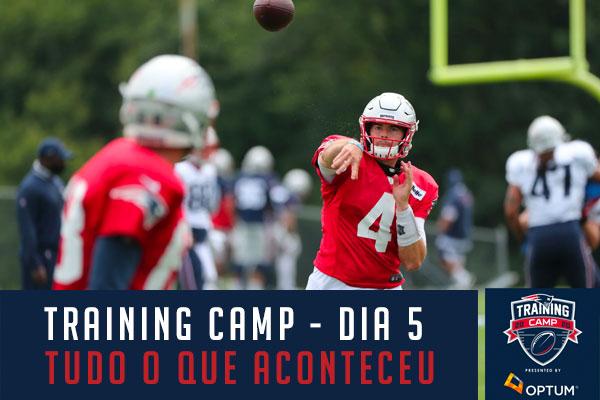 Treino dos Patriots Jarrett Stidham Training Camp 2020