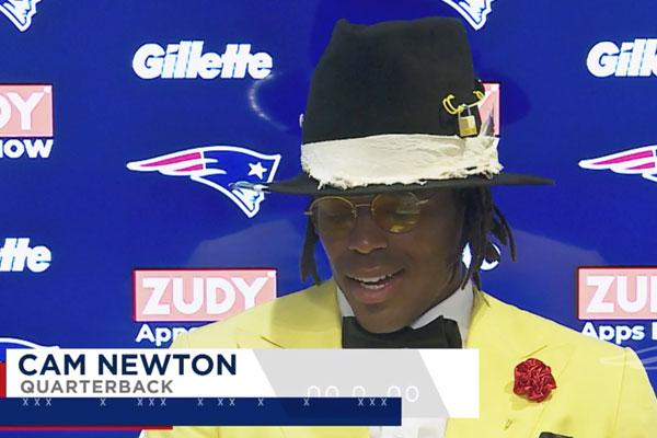 Cam Newton fala após primeira vitória como um jogador dos Patriots
