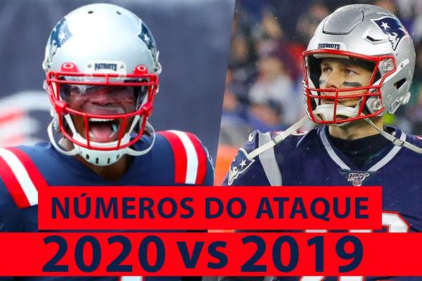 Ataque dos Patriots Cam Newton Tom Brady
